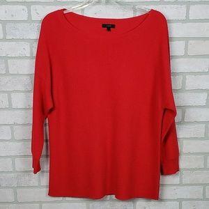 J Crew Wool Blend Knit Sweater Red Sz Lg